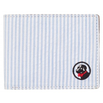 Proper Wallet - Blue/White Seersucker